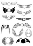 Heraldic wings set Stock Photo