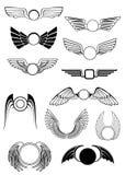 Heraldic wings set Stock Photo