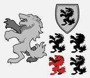 Heraldic Wolf Royalty Free Stock Images