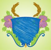 heraldiken som skissar vektor illustrationer