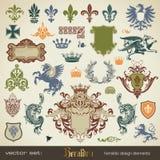 heraldikset stock illustrationer