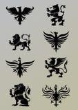 Heraldikuppsättning Royaltyfri Bild