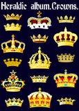 Heraldisch album. Kronen. (Pagina 1) (Vector) Stock Afbeeldingen