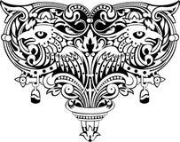 Heraldisch embleem Royalty-vrije Stock Afbeeldingen