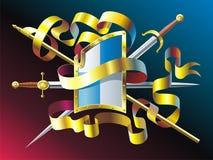 Heraldisch embleem vector illustratie