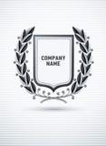 Heraldisch embleem met lauwerkrans Stock Afbeelding