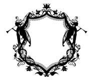 Heraldisch frame Royalty-vrije Stock Afbeeldingen