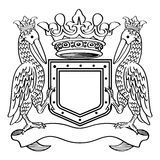 Heraldisch Kader Royalty-vrije Stock Fotografie