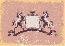 Heraldisch schild Stock Afbeelding