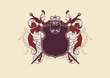 Heraldisch schild Stock Afbeeldingen
