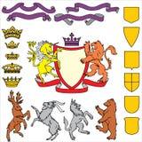 Heraldisch symbool Royalty-vrije Stock Afbeelding