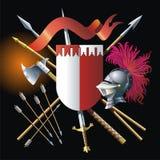 Heraldische achtergrond stock illustratie