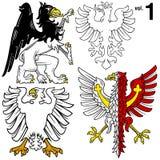 Heraldische Adelaars vol.1 stock illustratie
