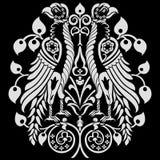Heraldische Eagles-Dekoration lizenzfreie abbildung