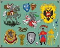 Heraldische elementen Royalty-vrije Stock Afbeeldingen