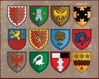 Heraldische elementen - schilden 1 Royalty-vrije Stock Foto's