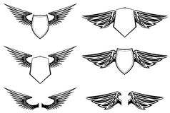 Heraldische Flügel Stockfotografie
