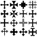 Heraldische kruisen Royalty-vrije Stock Foto's
