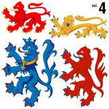 Heraldische Löwen vol.4 Stockfoto