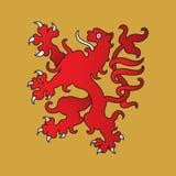 Heraldische leeuw Royalty-vrije Stock Afbeeldingen