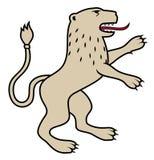 Heraldische leeuw/illustratie Royalty-vrije Stock Afbeeldingen