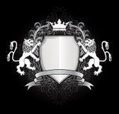 Heraldische leeuw met shiel Royalty-vrije Stock Fotografie