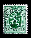 Heraldische leeuw, serie, circa 1929 Royalty-vrije Stock Fotografie