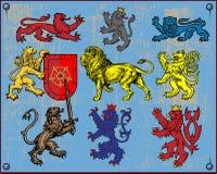 Heraldische leeuwen vector illustratie
