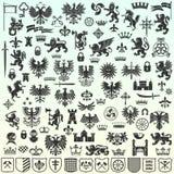 Heraldische ontwerpelementen Royalty-vrije Stock Afbeelding