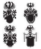 Heraldische schilden Stock Afbeelding