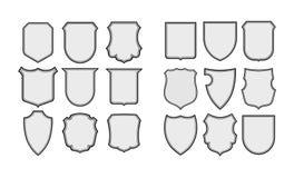 Heraldische schildenframes vector Stock Foto's