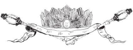 Heraldische symbolen van gezag Royalty-vrije Stock Afbeelding