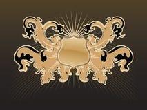 Heraldische vectorillustratie Royalty-vrije Stock Afbeelding