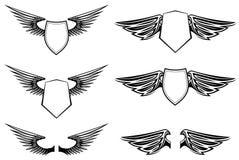 Heraldische vleugels Stock Fotografie