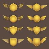 Heraldische vormen met vleugels Stock Afbeelding