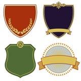 Heraldische wapenschilden Royalty-vrije Stock Afbeelding