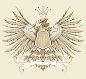 Heraldischer Adler der Weinlese Stockbild