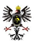 Heraldischer Adler mit einer Krone und einem Schild Lizenzfreies Stockbild