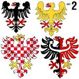 Heraldischer Eagles vol.2 Lizenzfreie Stockfotos