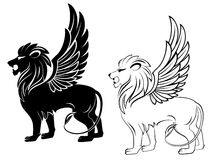 Heraldischer Löwe Lizenzfreie Stockfotografie