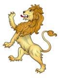 Heraldischer Löwevektor Lizenzfreie Stockfotos