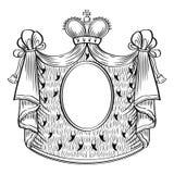 Heraldischer Rahmen Stockbild