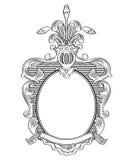 Heraldischer Rahmen Lizenzfreies Stockbild