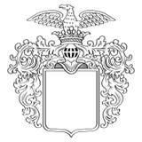 Heraldischer Rahmen Lizenzfreie Stockfotografie