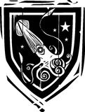Heraldischer Schild-Kalmar Lizenzfreie Stockfotografie