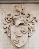 Heraldischer Schildstein stockbilder