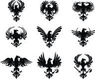 Heraldisches Adlerwappen Set Lizenzfreies Stockbild