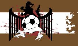 Heraldisches Fußballwolfwappen Hintergrund Stockbilder