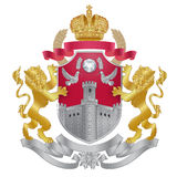 Heraldisches königliches Kammwappen des Vektors Lizenzfreies Stockfoto