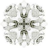 Heraldisches Kreuz der Weinlese Lizenzfreie Stockfotos